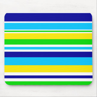 Fun Summer Striped Teal Lime Yellow Blue Gifts Mousepad