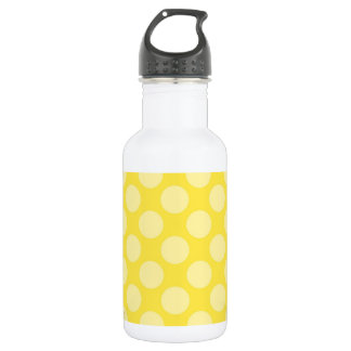 Fun Summer Yellow Polka Dots on Yellow 532 Ml Water Bottle