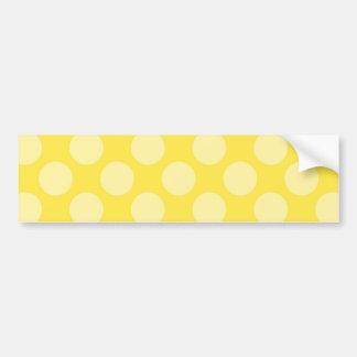 Fun Summer Yellow Polka Dots on Yellow Gifts Bumper Sticker
