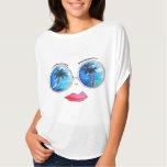 Fun Sunglass Lips PoP Art Design Summer Collection Shirts