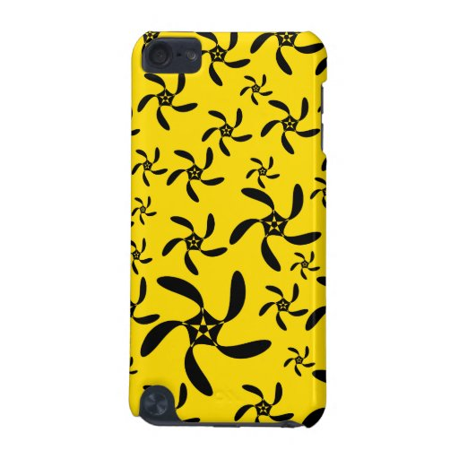 Fun sunny yellow and black flower design. iPod touch (5th generation) cover