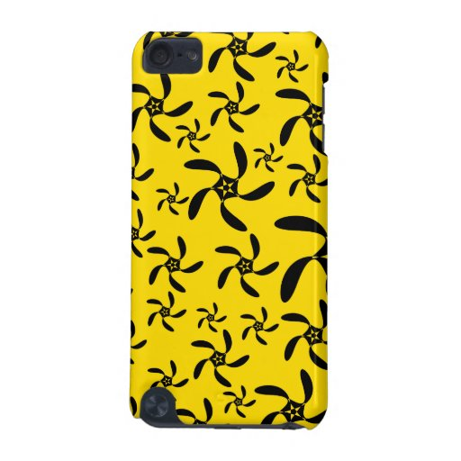 Fun sunny yellow and black flower design. iPod touch 5G cases