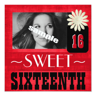 Fun Sweet Sixteenth Party for Country Girls 13 Cm X 13 Cm Square Invitation Card