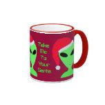 Fun Take Me To Your Santa LGM Alien Geek Mug