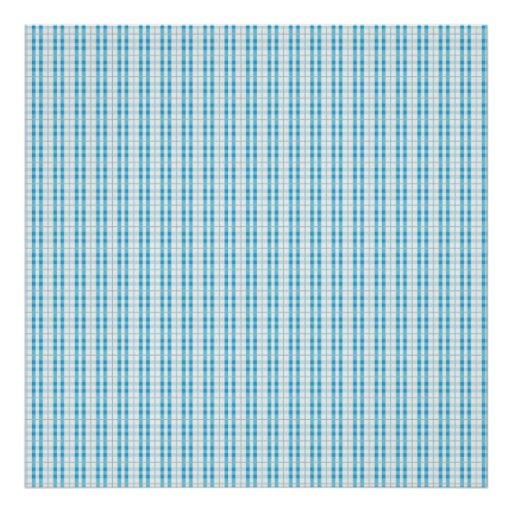 Fun Teal and Grey Striped Pattern Poster
