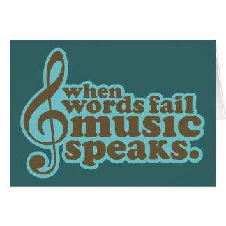 Fun Teal Music Speaks Musician Gift Card