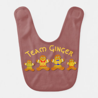 Fun Team Ginger For Lucky Ginger and Redheads Bib