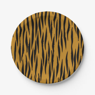 Fun Tiger Print Paper Plate