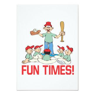 Fun Times 13 Cm X 18 Cm Invitation Card
