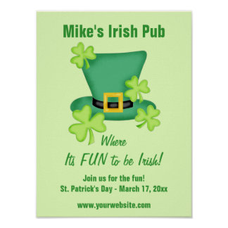 Fun to be Irish St Patrick's Day Event Advertising Poster