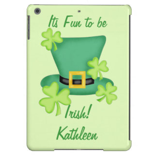 Fun to be Irish St. Patrick's Name Personalized iPad Air Cover