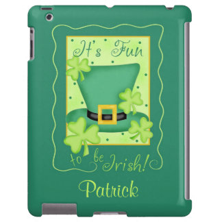 Fun to be Irish St. Patrick's Name Personalized iPad Case