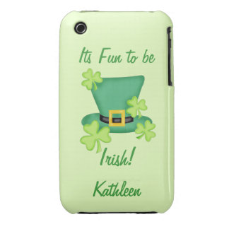 Fun to be Irish St. Patrick's Name Personalized iPhone 3 Case-Mate Case