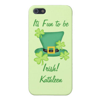 Fun to be Irish St. Patrick's Name Personalized iPhone 5 Case