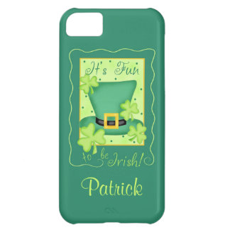 Fun to be Irish St. Patrick's Name Personalized iPhone 5C Case