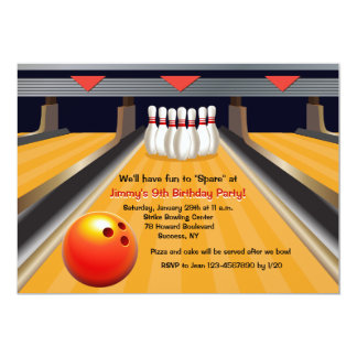 Fun To Spare Bowling Invitation