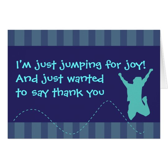 Fun Trampoline Birthday Thank You Cards - Boys