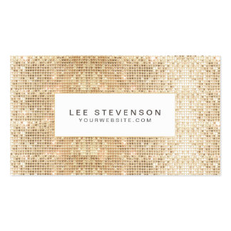 Fun Trendy Sparkly Gold Sequins Beauty Pack Of Standard Business Cards