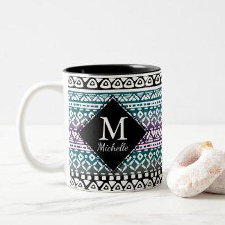 Fun Tribal Print Monogram Mug