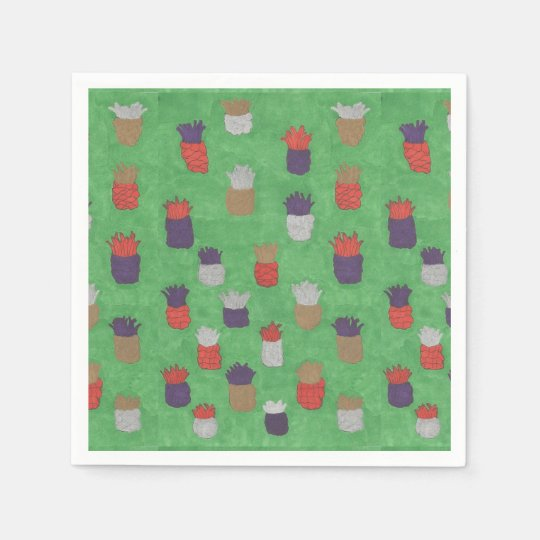 Fun Tropical Pineapple Paper Napkins