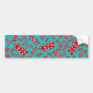 Fun turquoise dice pattern bumper sticker