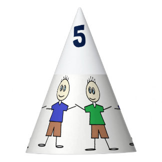 Fun Twin Boys Birthday Party Hat