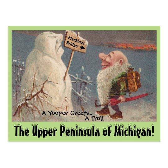 Fun U.P. Yooper Upper Peninsula Michigan POSTCARD