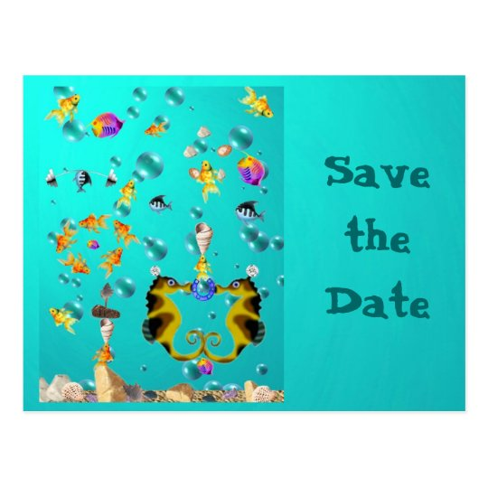 Fun Under the Sea, Save the Date Postcard