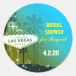 Fun Unique Las Vegas Bridal Shower Round Sticker
