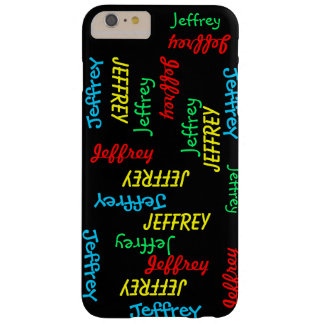 Fun Unique Repeating Names on Black, Personalized Barely There iPhone 6 Plus Case