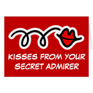 Fun Valentines Day Card | Kisses of secret admirer