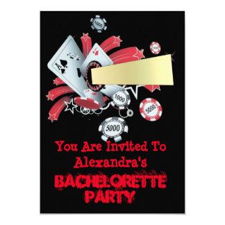 Fun Vegas poker casino chip bachelorette party 13 Cm X 18 Cm Invitation Card
