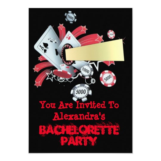 Fun Vegas poker casino chip bachelorette party Card