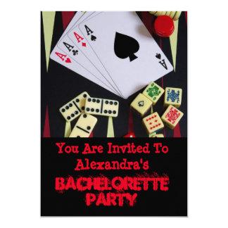Fun Vegas style gambling bachelorette party 13 Cm X 18 Cm Invitation Card