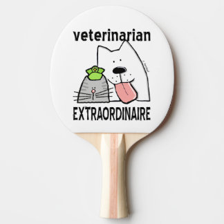 Fun Veterinarian Extraordinaire Ping Pong Paddle