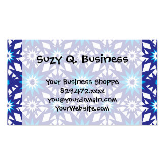 Fun Vibrant Blue Teal Star Starburst Pattern Business Cards
