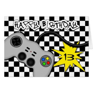 Video Game Controller Birthday Card