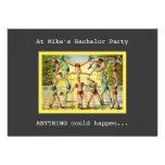Fun Vintage Bachelor Party Announcements