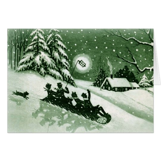 Fun Vintage Christmas Card