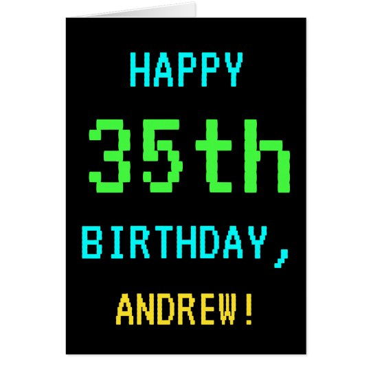 Fun Vintage/Retro Video Game Look 35th Birthday Card
