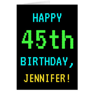Fun Vintage/Retro Video Game Look 45th Birthday Card