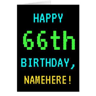 Fun Vintage/Retro Video Game Look 66th Birthday Card