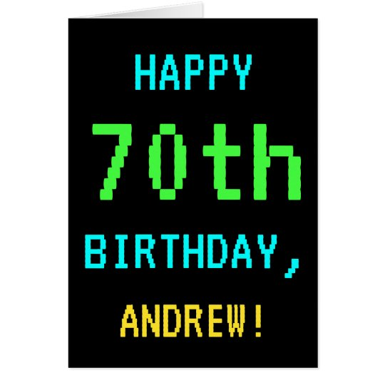 Fun Vintage/Retro Video Game Look 70th Birthday Card