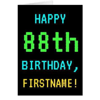 Fun Vintage/Retro Video Game Look 88th Birthday Card