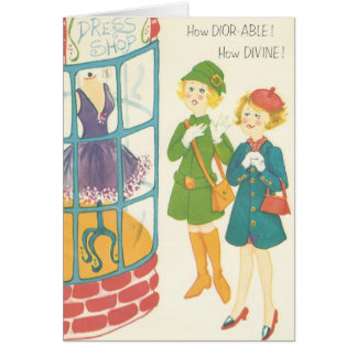 Fun Vintage Shopping Card