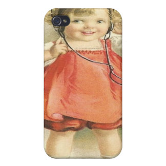 Fun Vintage Times Cute Girl Speck Case iPhone 4 iPhone 4 Cases