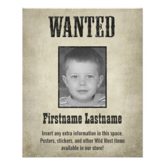 Fun WANTED poster design Full Color Flyer