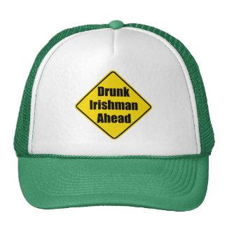 "Fun warning traffic sign, ""Drunk Irishman ahead"" Cap"