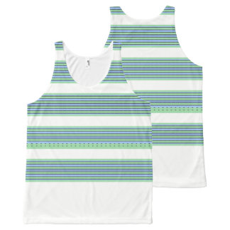 Fun_Water_Stripes_Sport-Casual-Women's-Tank-Top All-Over Print Tank Top