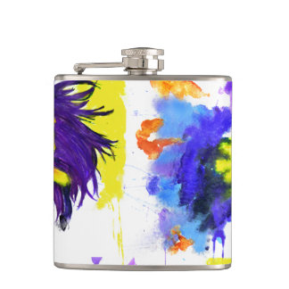 Fun Watercolor Horse Flask